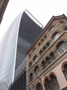 The (left) building from the ground